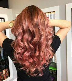 Rose gold hair - I shall attempt this colour this weekend with the help of pravana!
