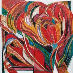 Ellen van Randeraat - vrij naar tulp Kandinsky, Abstract, Ethnic Recipes, Van, Painting, Color, Tulips, Summary, Painting Art