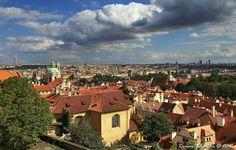 Czech Republic and the capital Prague - View from Prague Castle - World Heritage Site (UNESCO)