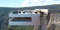 This New Restaurant Proposal Takes Cliffside Dining To New Heights - ELLEDecor.com