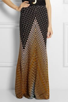 Missoni | Crochet-knit maxi skirt