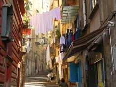 Laundry day is always a beautiful sight in Naples!
