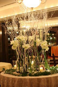 シェ松尾青山サロン様の装花 冬へのメモリアルテーブル