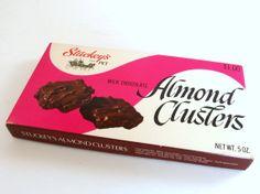 Vintage Empty Stuckey's Almond Cluster Box