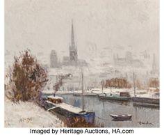 Neige sur la Seine par Albert Malet Painting, Snow, Artist, Painting Art, Paintings, Painted Canvas, Drawings