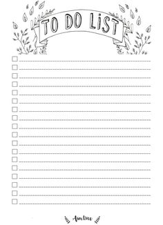 Diy to Do List Template Inspirational asaline Illustrations to Do List Gratuit A Imprimer Free Printable Diy Planner, To Do Planner, Monthly Planner, Planner Pages, To Do Lists Printable, Printable Planner, Free Printables, Bullet Journal Ideas Pages, Bullet Journal Inspiration