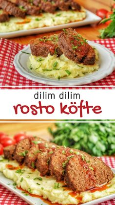 Püreli Rosto Köfte (videolu) – Nefis Yemek Tarifleri – Keto tarifleri – The Most Practical and Easy Recipes Baked Chicken Recipes, Pork Chop Recipes, Meat Recipes, Dinner Recipes, Cooking Recipes, Chicken Dinner For Two, Turkish Recipes, Yummy Food, Delicious Recipes