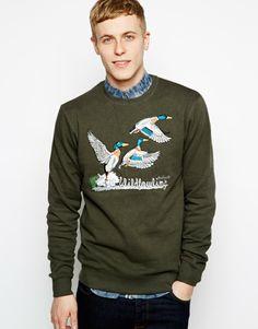 Anerkjendt Sweatshirt with Duck Print