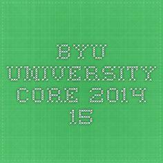 BYU University Core 2014-15