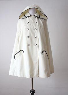 vintage 1960's ivory cape