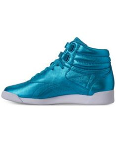 da9ed150d8d7 Reebok Women s Freestyle Hi Metallic Casual Sneakers from Finish Line    Reviews - Finish Line Athletic Sneakers - Shoes - Macy s