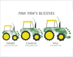 Tractor Footprint Wall Art 102_pap by MyForeverPrints on Etsy