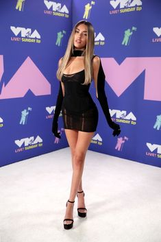 Madison Beer Dons Little Black Dress at MTV VMAs 2020 Mtv, Maddison Beer, Madison Beer Outfits, Cool Outfits, Fashion Outfits, Fashion Hair, Beautiful Girl Image, She Was Beautiful, Beautiful Gorgeous