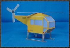 A Simple Helicopter Paper Model Free Download - http://www.papercraftsquare.com/a-simple-helicopter-paper-model-free-download.html