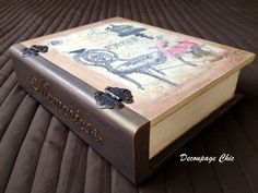 Paris book box vintage keepsake box by JelenaDecoupageChic on Etsy
