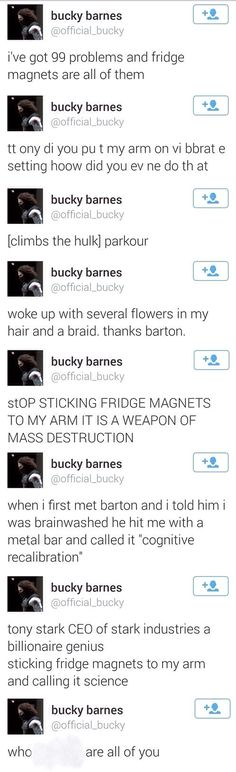 Bucky's problems with the Avengers