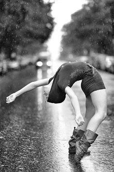 ahead and dance in the rain. Dancer Tenealle Farragher photographed by Jordan Matter Photography.Go ahead and dance in the rain. Dancer Tenealle Farragher photographed by Jordan Matter Photography. Shall We Dance, Just Dance, Dance Poses, Yoga Poses, Dance Photography, White Photography, Beauty Photography, Happy Photography, Bild Tattoos