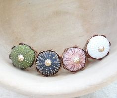 Sea Urchin Ring  Vintage Ring  Pick Your Color  by StaroftheEast, $40.00