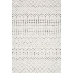 nuLOOM Geometric Moroccan Bead Pattern Grey/ White Rug (6'7 x 9')