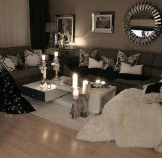 Cozy monochromatic seating area