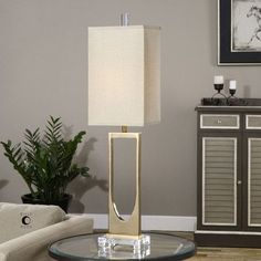 "Uttermost Genivolta 38.25"" H Table Lamp with Rectangular Shade"