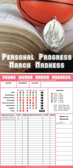 Young Womans Personal Progress March Madness - New link that works
