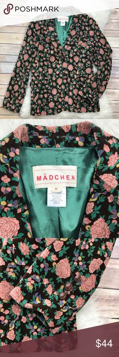"Anthropologie Madchen Tea Rose Velvet Blazer Excellent condition Madchen Tea Rose Velvet Blazer from Anthropologie. Size Medium. 100% cotton, fully lined in 100% polyester. Bust 38"", waist 33"", length 27"". No trades, offers welcome. Anthropologie Jackets & Coats Blazers"