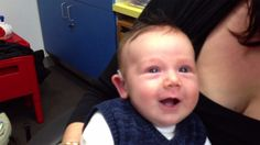 Watch baby's priceless reaction after hearing for first time