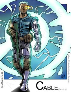Cable - Time Displaced (Marvel Comics) New Mutants inspired by Max Dunbar by Nickolas Lane Cable Marvel, Marvel Dc Comics, Marvel Heroes, Comic Books Art, Comic Art, Marvel Comic Character, 2d Character, Spiderman, X Men Evolution