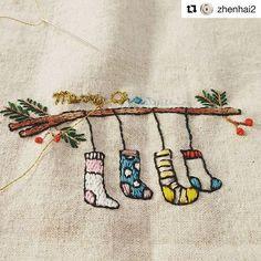 @zhenhai2 #christmas #needlework #handembroidery #ricamo #broderie #embroidery #bordado