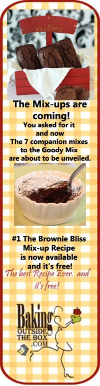 Whip up a batch of the Brownie Bliss Mix-up Recipe and then try our Fudgy Brownies recipe.  #brownies #baking mix #brownie mix