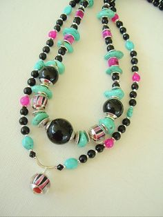 Boho Necklace Bohemian Jewelry Turquoise Jewelry by BohoStyleMe