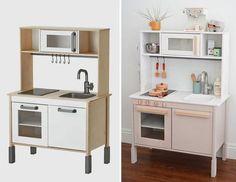 Ikea Kids Kitchen, Diy Kitchen, Kitchen Decor, Kitchen Modern, Ikea Childrens Kitchen, Kitchen Racks, Kitchen Dishes, Kitchen Storage, Cuisines Diy