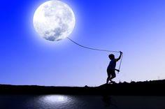 interest balloon, beauti imag, moon, beauti kite, la luna