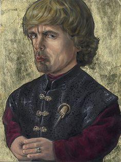 ILLUSTRATION Tyrion!  Gold Leaf for extra fanciness.