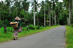 Village Village surrounding Borobudur complex, Central Java, Indonesia (UNESCO World Hertiage site)
