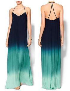 #ombre maxi dress. Find Similar at ManicuresAndMerlot.com