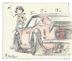 Auto Illustration, Car Animation, Cool Car Drawings, Character Art, Character Design, Kids Cartoon Characters, Manga, Motorcycle Art, Cute Cars