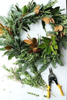 DIY Fresh Magnolia Mixed Branch Wreath Fresh Christmas wreaths are my favorite!  I try to make two fresh ones every year.  So last spring I had my landscaper plant two magnolia trees in my backyard since we live in the south.  Every southern home should have their own magnolia Read More