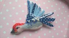 Bird brooch- brošňa vtačik