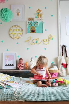 "Colourful Kids Spaces | make this simple 'love"" diy wall art - great for a child's bedroom 