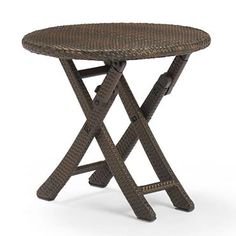 Round Cafe Folding Table Cafe 24, Round Folding Table, Table Set Up, Hand Weaving, Stool, Table Settings, Outdoor Furniture, Dining, Inspiration