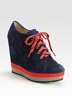 Boutique 9 Sporty Suede Colorblock Wedge Ankle Boots