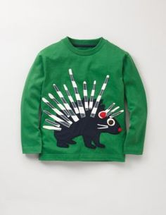 Big Applique T-shirt Lawn/Porcupine $28
