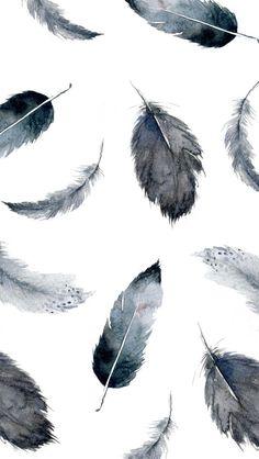 Iphone Wallpaper Feathers, Grey Wallpaper Phone, Desktop Wallpaper Watercolor, Unique Iphone Wallpaper, Pattern Wallpaper Iphone, Walpaper Phone, Black And White Wallpaper Iphone, Angel Wallpaper, Mobile Wallpaper