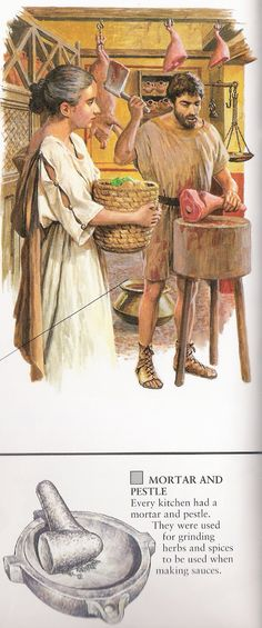 Roman mortar and pestle. Ancient Rome, Ancient Greece, Ancient Art, Ancient History, Roman Food, Roman Britain, Historia Universal, Roman History, Roman Empire