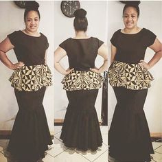 @queenfressh Island Outfit, Island Wear, Island Wedding Dresses, Samoan Dress, Island Style Clothing, New Dress Pattern, Evening Dress Patterns, Gala Dresses, Different Dresses