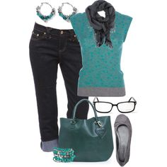 GlassesGirl, created by hollyhalverson on Polyvore