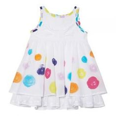 2015 Spring/Summer Fizzy Pop! Flounced Dress from #deuxpardeux  This fizzy, bubbly dress is just the right way to welcome spring! #3littlemonkeys