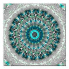Blue Earth Mandala Shower Curtain by Vicki - CafePress Mandala Shower Curtain, Blue Shower Curtains, Custom Shower Curtains, Mermaid Bathroom, Turquoise Fabric, Babe Cave, Green Earth, Car Magnets, Mandalas